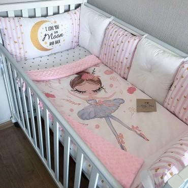 Комплект бортиков в кроватку «Балерина №2» на 4 стороны