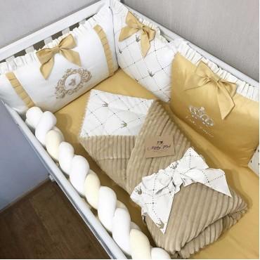 Комплект бортиков в кроватку «Золотая классика» на 4 стороны