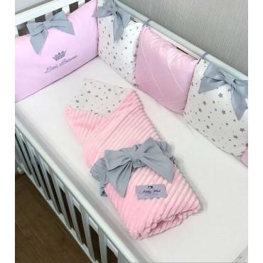 Комплект бортиков в кроватку «Звездочки №1» на 3 стороны