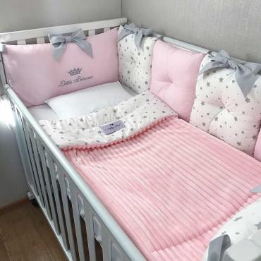 Комплект бортиков в кроватку «Звездочки №2»  на 3 стороны