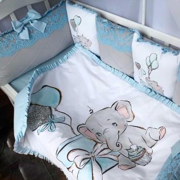 Комплект бортиков в кроватку «Слоник» на 3 стороны