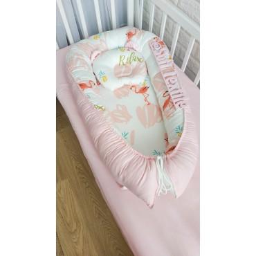 Кокон-гнездышко «Фламинго» с подушкой