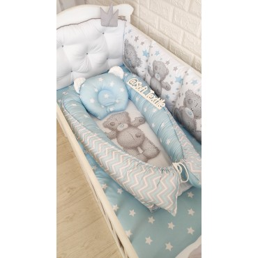 Кокон-гнездышко «Мишка Тедди» с подушкой
