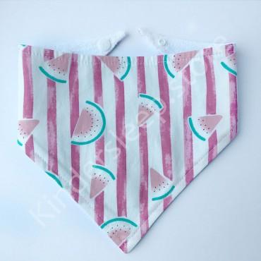 Слюнявчик непромокаемый «Арбузики» цвет Розовый
