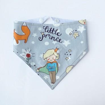 Слюнявчик непромокаемый «Little prince» Серый
