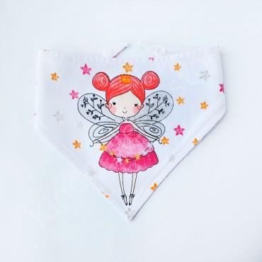 Слюнявчик непромокаемый «Маленькая фея» цвет Белый