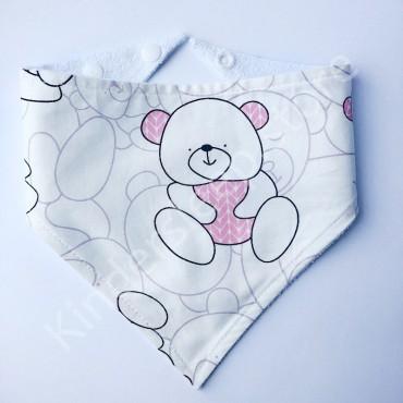 Слюнявчик непромокаемый «Розовый мишка»