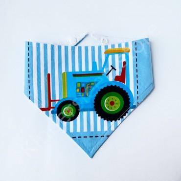 Слюнявчик непромокаемый «Синий трактор» Голубой