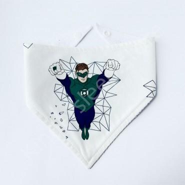 Слюнявчик непромокаемый «Зелёный Фонарь» Супергерои