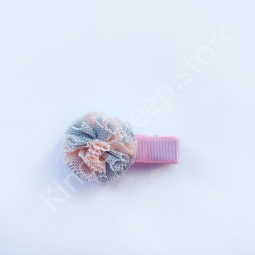 Заколка детская для волос Бантик Пудрово-серая 1 шт