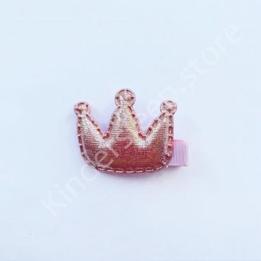Заколка детская для волос Корона Розовая 1 шт