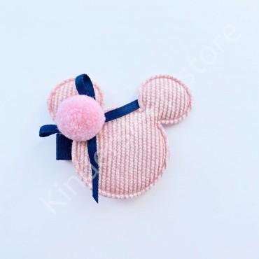 Заколка детская для волос Микки Розовая 1 шт