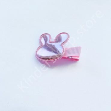 Заколка детская для волос Мики Розовая блеск 1 шт
