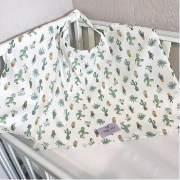 Накидка для кормления «Кактусы»  + сумочка-чехол