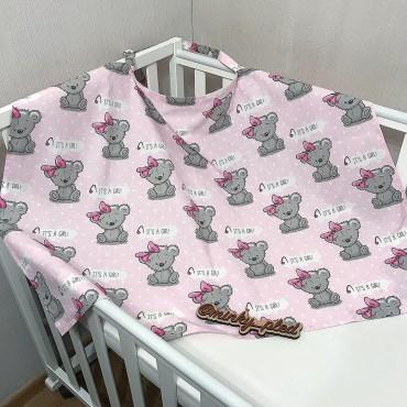 Накидка для кормления «Мишка Тедди девочка»  + сумочка-чехол