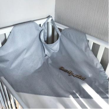 Накидка для кормления «Серые узоры 1»  + сумочка-чехол