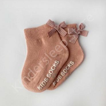 Хлопковые носочки, 0-3 мес., 1 пара, цвет Пудра
