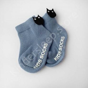 Хлопковые носочки, 0-3 мес., 1 пара, цвет Синий