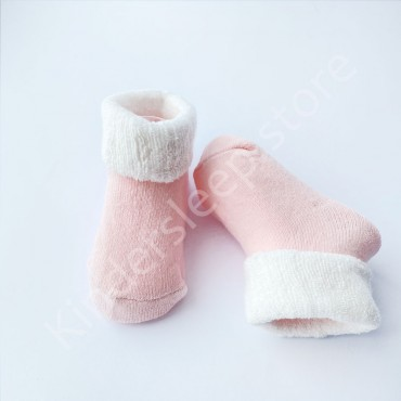 Махровые носки, 3-6 мес, 1 пара, пудровые