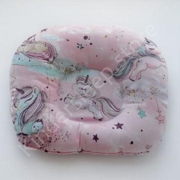 Подушка  (позиционер) Бязь «Единорог розовый» Розовая