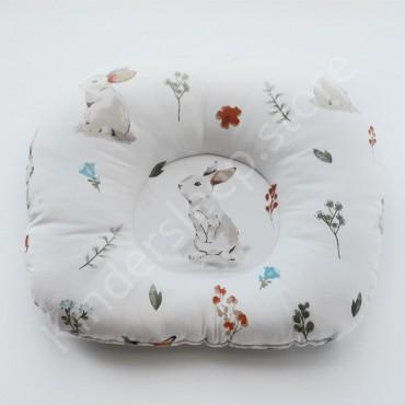 Подушка  (позиционер) Бязь «Лесной Зайчик» Белая