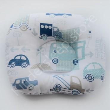 Подушка  (позиционер) Бязь «Машинки BEEP» Белая