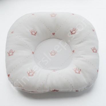 Подушка  (позиционер) Бязь «Пудровые Короны» Белая