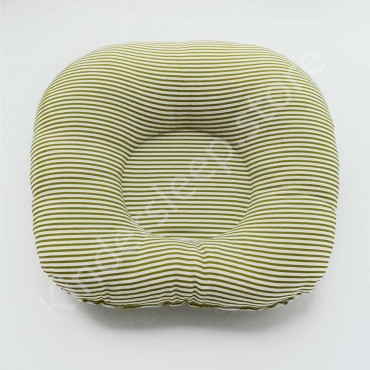 Подушка  (позиционер) Сатин «Полоска» Бело-зеленая