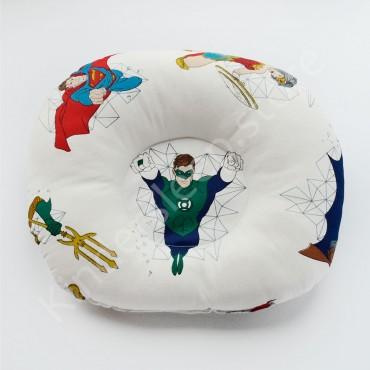 Подушка  (позиционер) Сатин «Супергерои» Белая