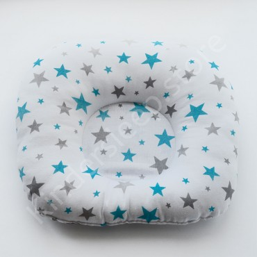 Подушка  (позиционер) Бязь «Звезды Голубо-серые» Белая