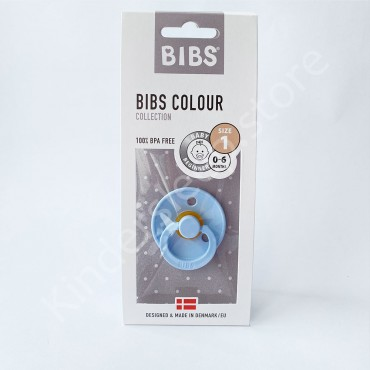 Пустышка (соска) Bibs Colour Baby Blue (0-6 мес) Голубой
