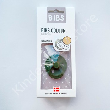 Пустышка (соска) Bibs Colour Hunter green (0-6 мес) Темно-зеленый