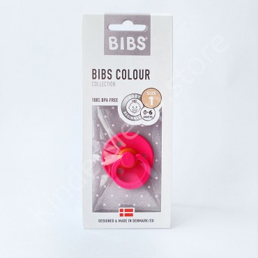 Пустышка (соска) Bibs Colour Raspberry (0-6 мес) Малина