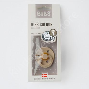 Пустышка (соска) Bibs Colour Vanilla (0-6 мес) Ваниль