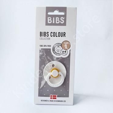Пустышка (соска) Bibs Colour White (0-6 мес) Белый