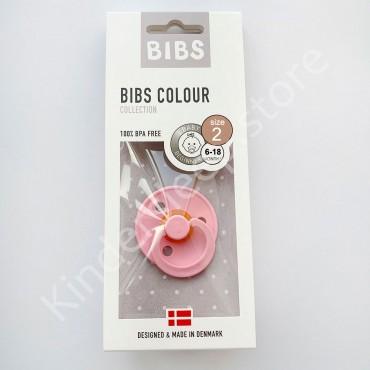 Пустышка (соска) Bibs Colour Baby Pink (6-18 мес) Розовый