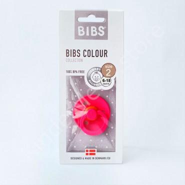 Пустышка (соска) Bibs Colour Raspberry (6-18 мес) Малина