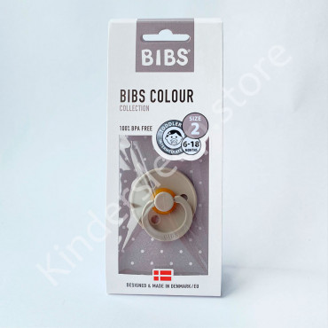Пустышка (соска) Bibs Colour Sand (6-18 мес) Песок