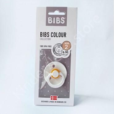 Пустышка (соска) Bibs Colour White (6-18 мес) Белый