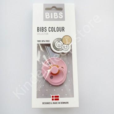 Пустышка (соска) Bibs Colour Baby Pink (0-6 мес) Розовый