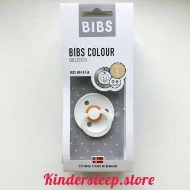 Пустышка Bibs Colour White (0-6 мес)