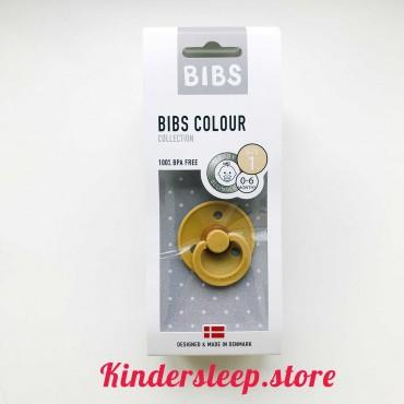 Пустышка Bibs Colour Mustard (0-6 мес)