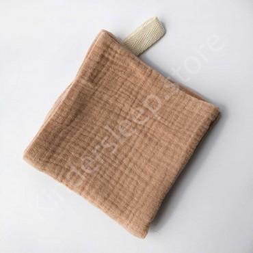 Салфетка полотенце муслиновое, цвет Коричневый