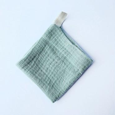 Салфетка полотенце муслиновое, цвет Полынь