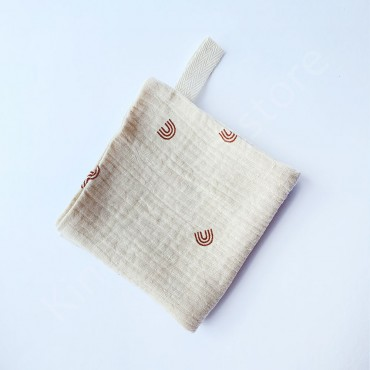 Салфетка полотенце муслиновое, цвет Светло-бежевый