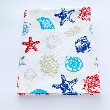 Фланелевая пеленка 100х80 см «Морское дно»
