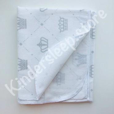 Фланелевая пеленка «Короны» белая