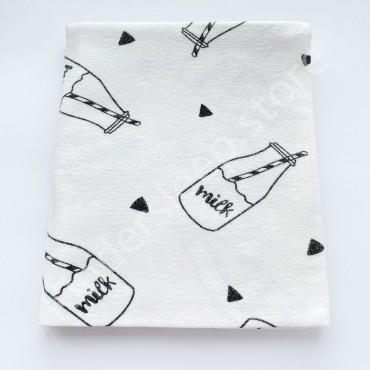 Фланелевая пеленка 100х80 см «Milk»