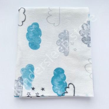 Фланелевая пеленка 100х80 см «Облака»