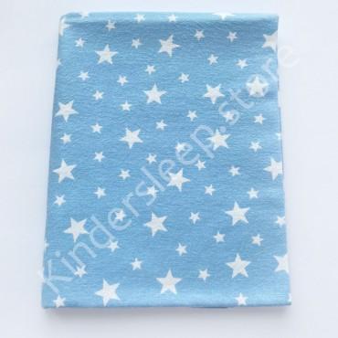 Фланелевая пеленка 100х80 см «Звезды» голубая
